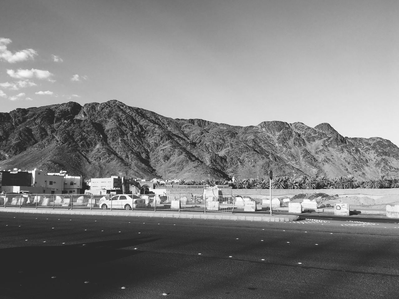 Airport Runway Architecture Beauty In Nature Black And White Blackandwhite Cloud - Sky Day Gas Light And Shadow Mountain Mountain Range Nature No People Outdoors Road Scenics Sky The City Light Travel Destinations