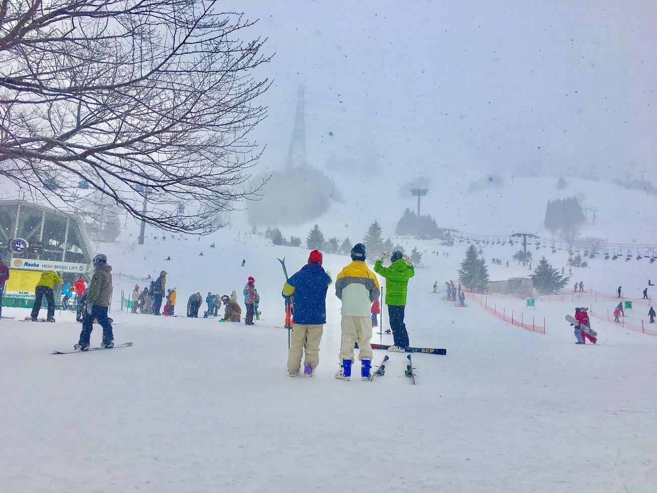 Snow Snow ❄ Snowing Niigata Naeba Skiing Resort Snowboard Snowboarding Japan Wintersports