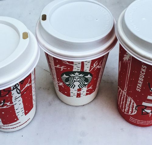 Red Food And Drink No People Close-up Indoors  PLASTIC CONTAINER Day Starbucks Coffee