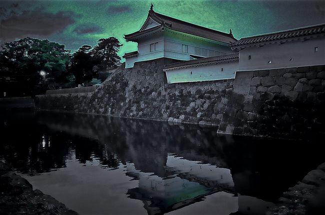 Castle Castles Castle Walls Moat Moated Castle Moatedcastle Odawara Odawara Castle / Japan Odawara/Japan Projection Mapping Goldenweek Relaxing EyeEm EyeEm Best Shots Eyeemphotography Blackandwhite Photography