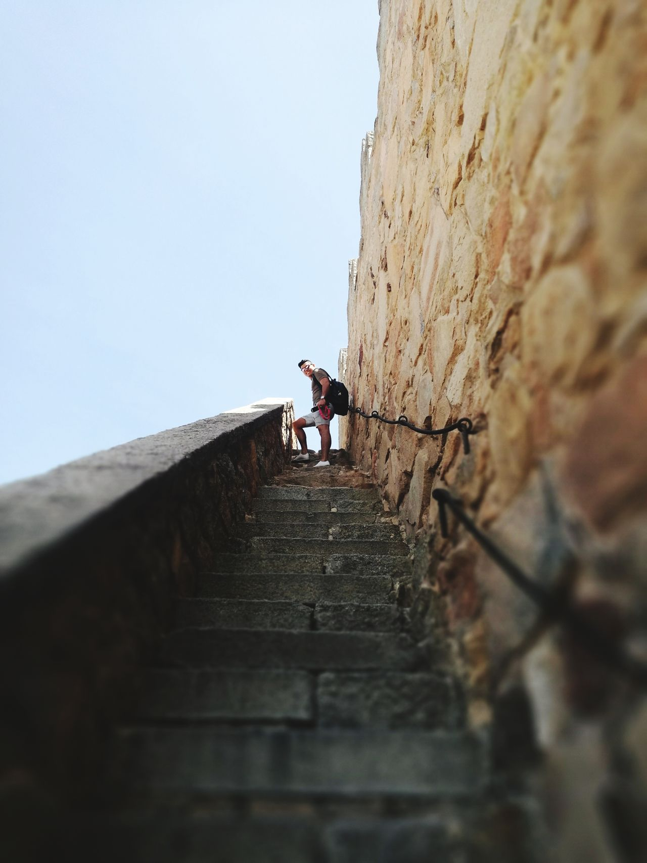 Murallas de Avila españa Full Length One Man Only Adults Only Only Men Climbing One Person Adult RISK Low Angle View Adventure Mid Adult Mid Adult Men People Staircase Steps And Staircases Steps Men Effort Day Clear Sky Travel Destinations Aventura Escaleras Spanish First Eyeem Photo