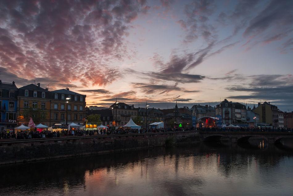 Taken during FIMU Festival in Belfort (festival international de musique universitaire) Belfort City Life Cloud - Sky Festival FIMU Reflection River Sunset