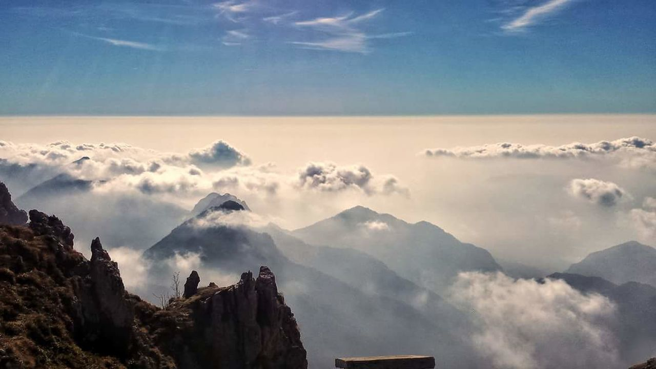 mountain, cloud - sky, nature, sky, scenics, beauty in nature, majestic, tranquility, tranquil scene, mountain range, no people, physical geography, outdoors, landscape, day