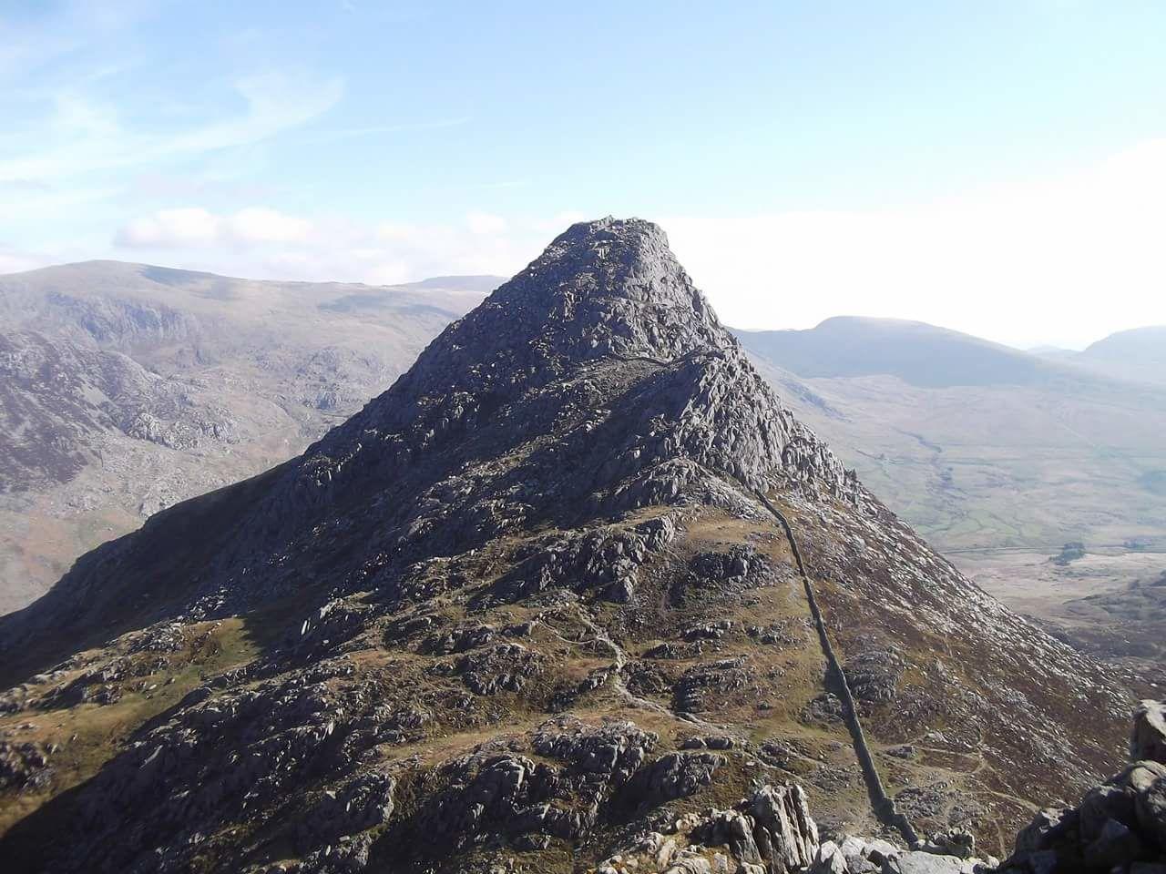 Tryfan. Tryfan's South Face Bristly Ridge