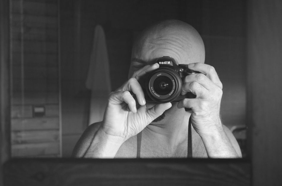 Happy 2017! Adult Camera - Photographic Equipment Close-up Day Headshot Holding Human Body Part Human Hand Indoors  One Person People Photographer Photographing Photography Themes Real People Selfportrait Technology
