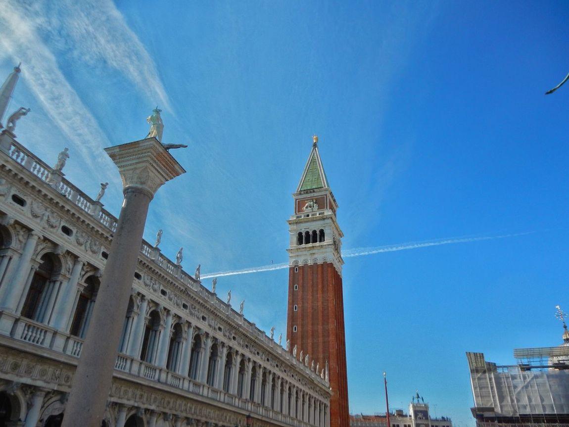 Venezia Venice Venexia Piazza San Marco Venezia Campanile San Marco Blue Sky Look Up