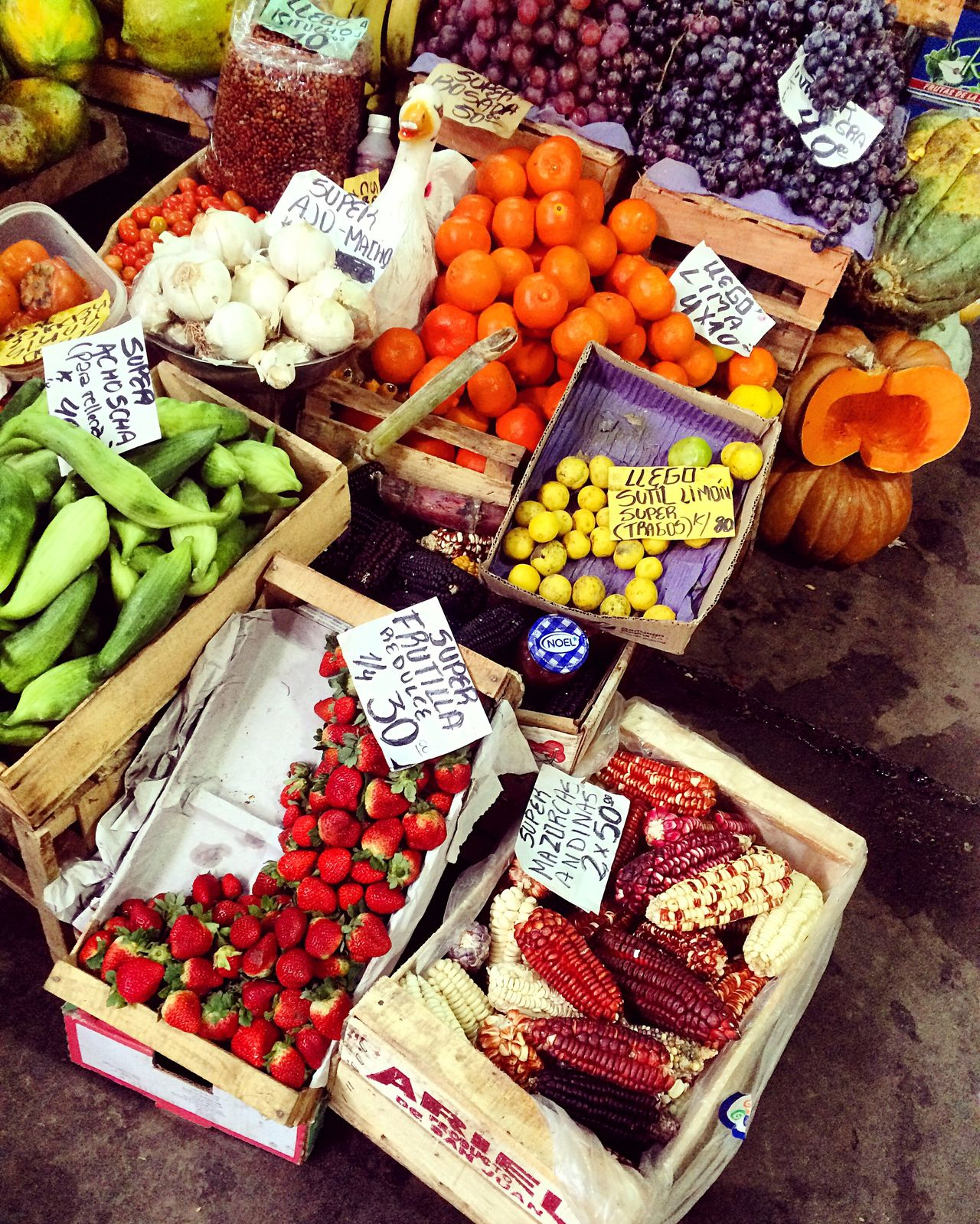 Beautifully Organized Choice Variation Freshness Market Stall Vegetable Fruit Market Abundance Retail  Food Price Tag Healthy Eating Large Group Of Objects Business For Sale Arrangement Text Day Multi Colored