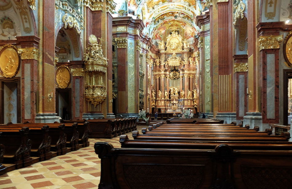 Church Architectural Column Architecture Built Structure Church Day Indoors  Kloster Melk Melk No People Place Of Worship Religion Spirituality STIFT MELK Travel Destinations