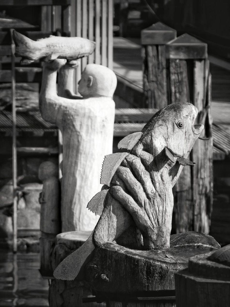 Animal Themes Outdoors Sculpture Day Leer (Ostfriesland) Myhometown Blackandwhite Harbor Ship Leer Sea Water Boat Black Color Nature ArtWork