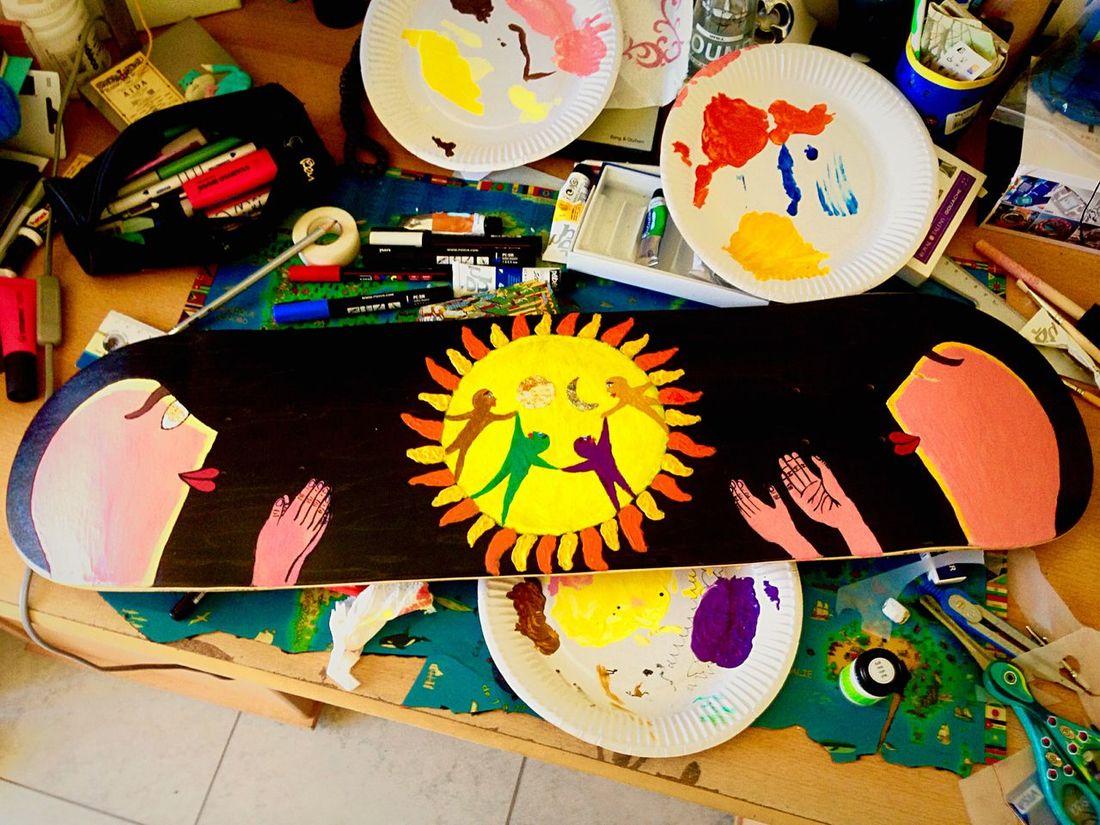 ArtWork Streetart Skate Mywork Colors Spiritual Sun Ronde Inspiration Art of Spirit - ode à la vie -