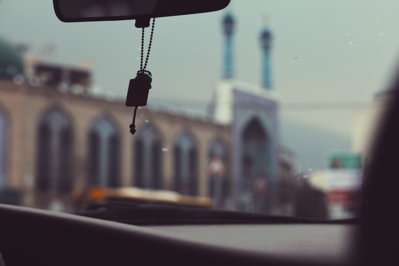 Focus On Foreground Mode Of Transport Transportation Travel Building Exterior Vehicle Interior Architecture Built Structure Day City Sky Close-up Outdoors No People Tehran Tehran, Iran OpenEdit Iran Taxi Drive Driving Car Mosque Islamic Architecture