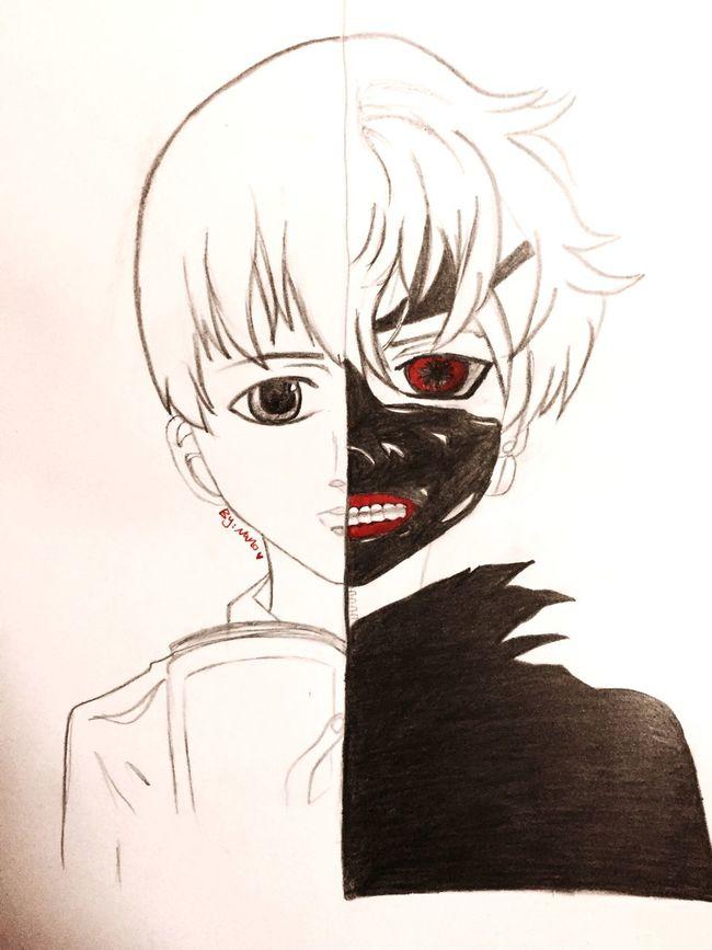شخصية الانمي الرعب الأساسيه اللي أتابعه الحين مرررا جميييل horror anime amazing... ❤️❤️ Check This Out Taking Photos Relaxing My Drawing رسمي  Tokyo Goule Anime