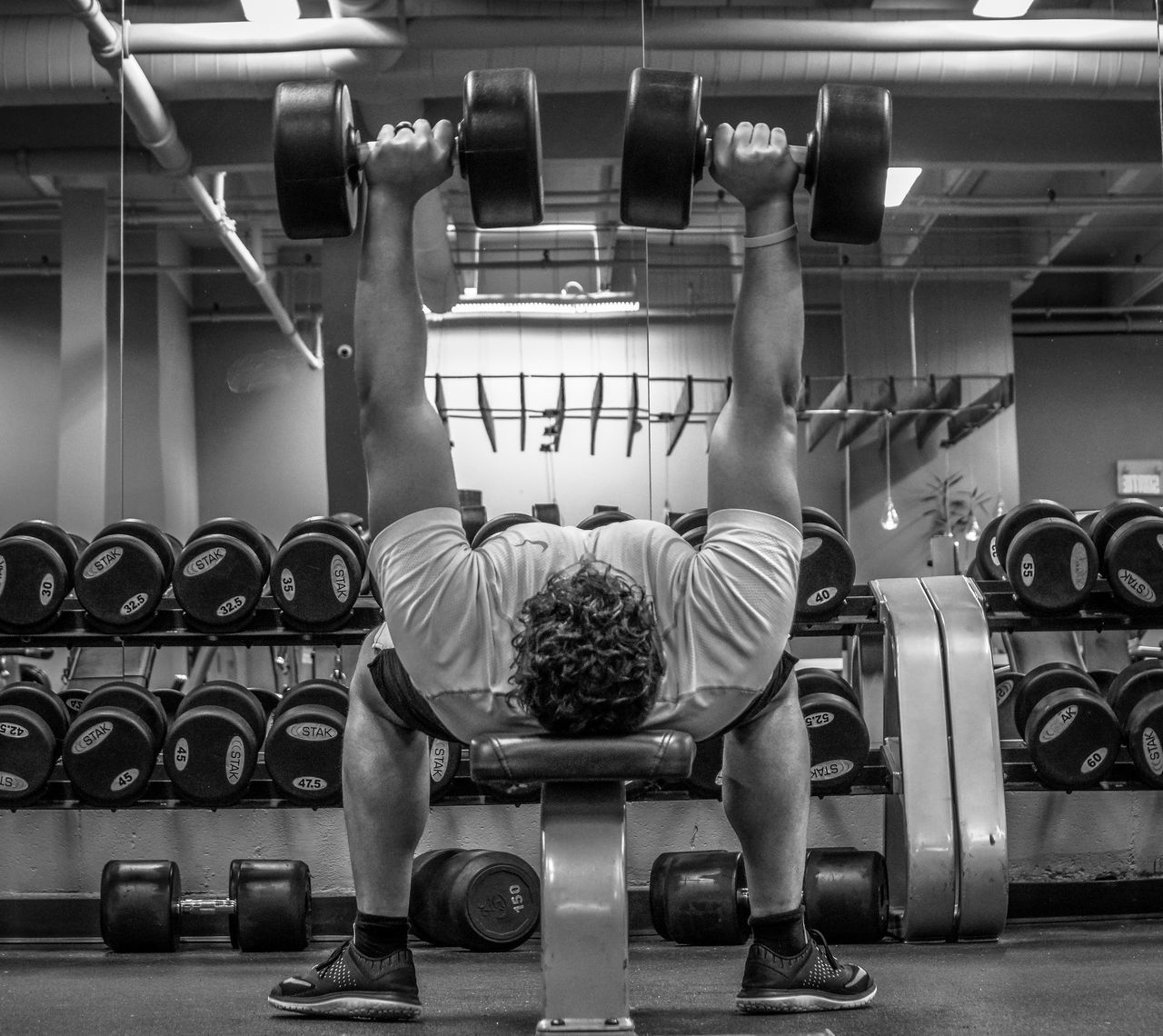 18-105mm Athlete Athlete Black And White Blackandwhite Gym Health Club Healthy Healthy Lifestyle Indoors  Lifestyles Lifting Weights Men Mirror One Man Only One Person Portrait Portrait Of A Friend Portrait Of A Man  Sony A6300 Sport Sports Training Sportsman Weightlifting Weights