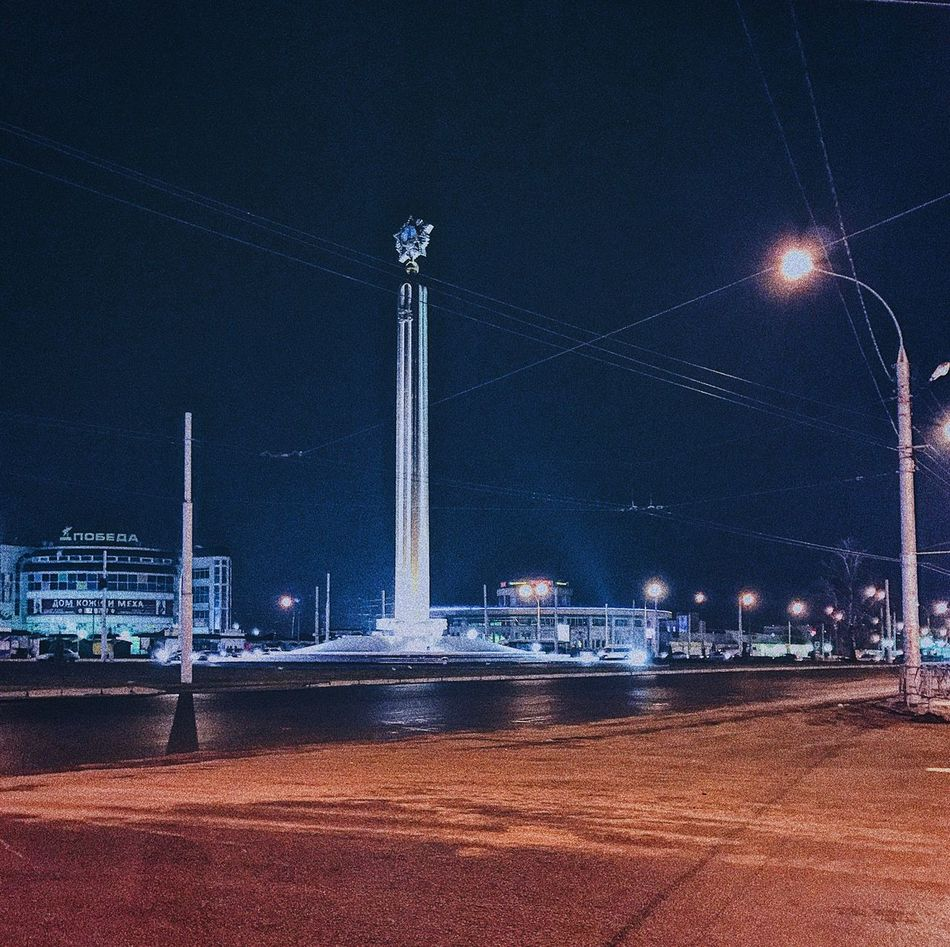 Night Illuminated Architecture Built Structure Building Exterior Outdoors Water Sky City No People Nature Lipetsk липецк