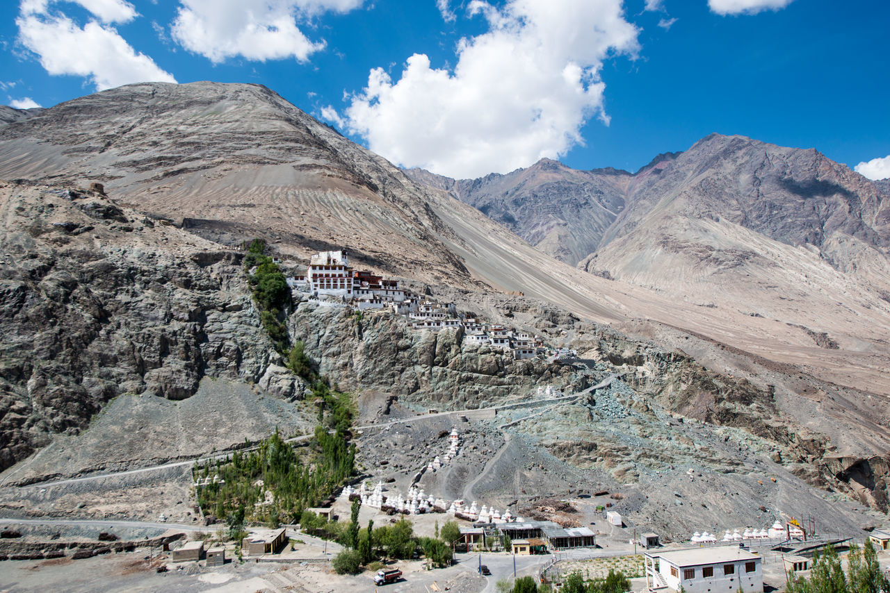 Monastery on the mountain, Ladakh, India Cloud - Sky Day Landscape Mountain No People Outdoors Quarry Scenics Sky Travel Destinations