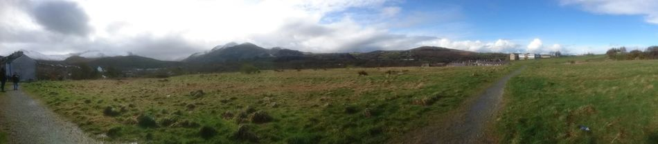 Wales trip Mountain Range Mountains Mountains And Sky Feilds Green Blue Grey Rock Grass Panaramic Wales Wales UK Wales You Beauty Bethesda Wales Bethesda Landscape Nature Beauty In Nature Outdoors Sky Lush - Description Clouds Hello World
