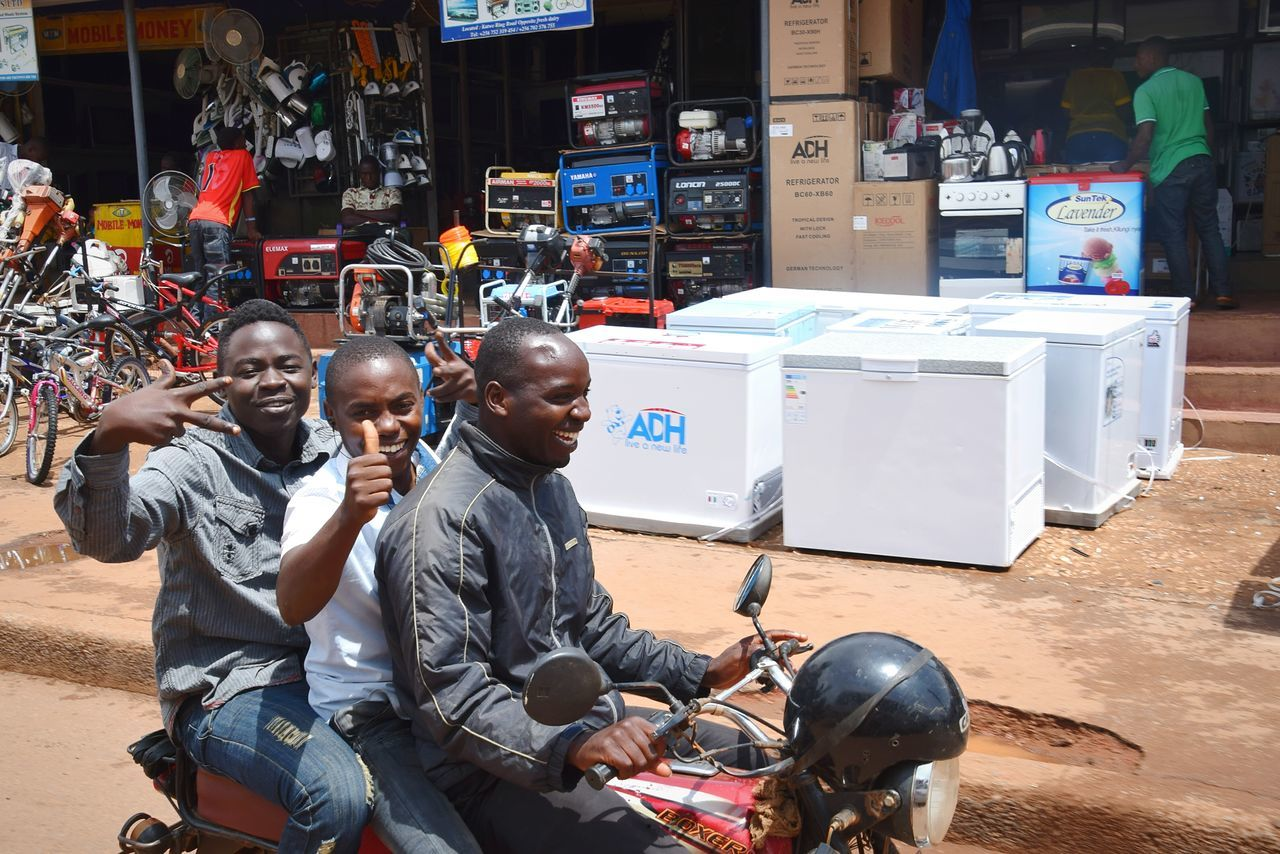 Streetphotography Sitting Only Men Adult Adults Only People Outdoors Men Young Adult City Kampala Uganda Let's Go. Together.