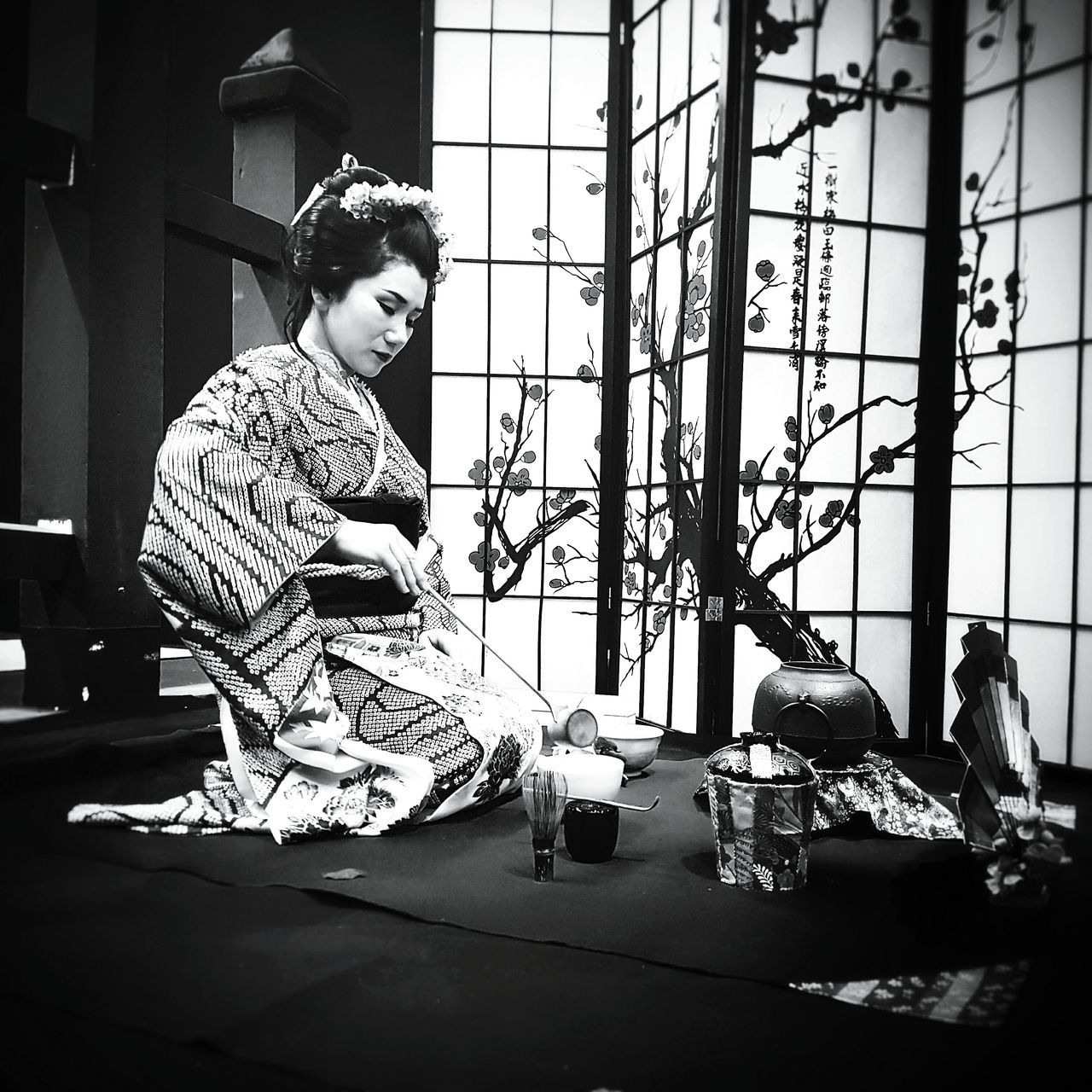 Week On Eyeem EyeEm New Here Blackandwhite Photography Old-fashioned Lifestyles Traditional Culture Women Who Inspire You Black & White Blackandwhite Ceremony Of Tea Portrait Japanese Culture Black And White Portrait Japan Japanese  Woman Portrait BW Collection Japanese Traditional Japan Photography Traditional Clothing Woman Power Geisha Tradition Women Around The World