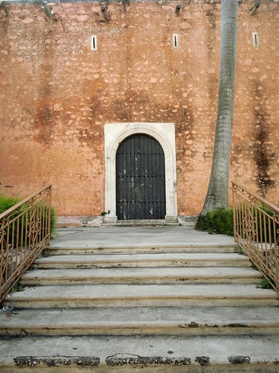 Yucatecan Doors. Building Exterior Architecture Built Structure Façade Doors Stairs Stairway Urban Architecture Mexico Yucatanturismo Yucatan Peninsula Mérida Yucatán Visit Mexico