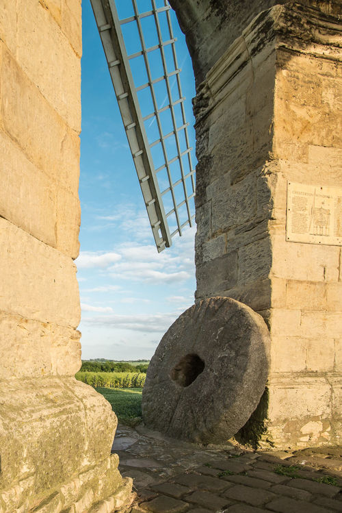 Arch Built Structure Chesterton Chesterton Windmill Day Landscape Millstone No People Outdoors Stone Material Windmill
