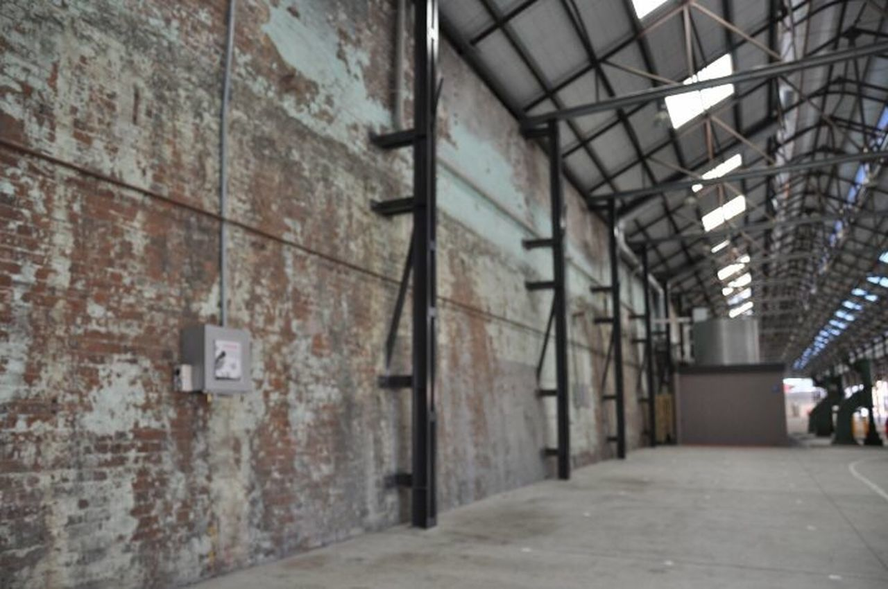 Structural practise Architecture Warehouse Brick Wall Factory Industry Carriageworks Train