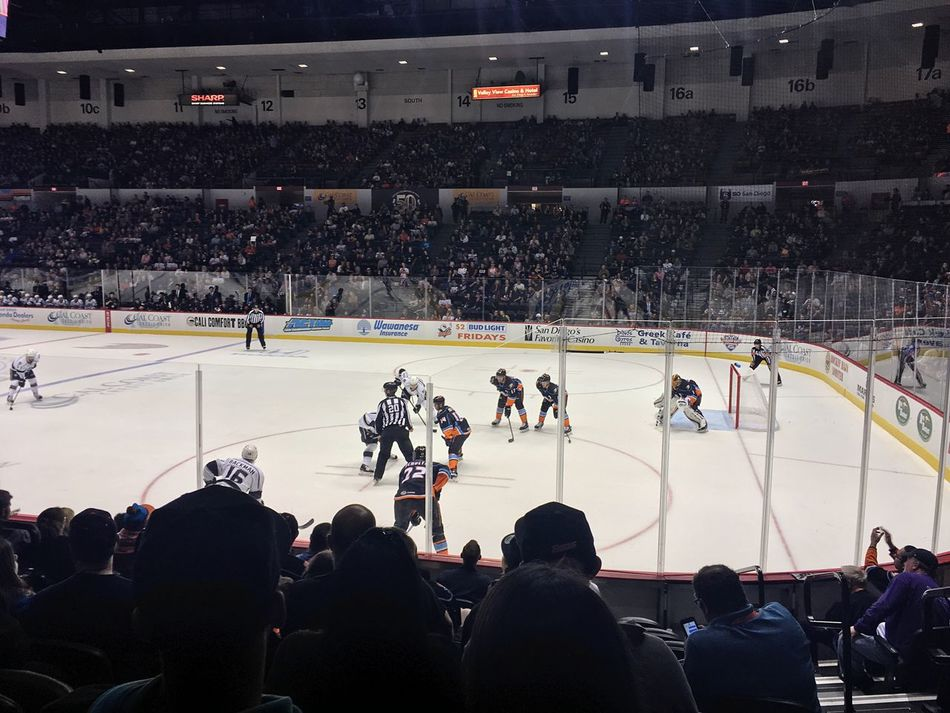 Hockey night in San Diego. San Diego Gulls