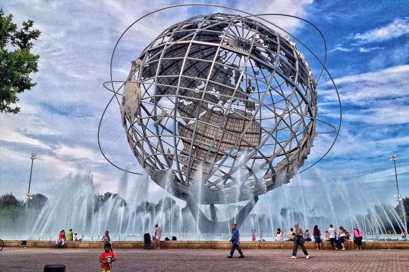 New York City NYC NYC Photography Unisphere Earth Metalsculpture Park Flushing Meadow Park My View Metal Sculpture