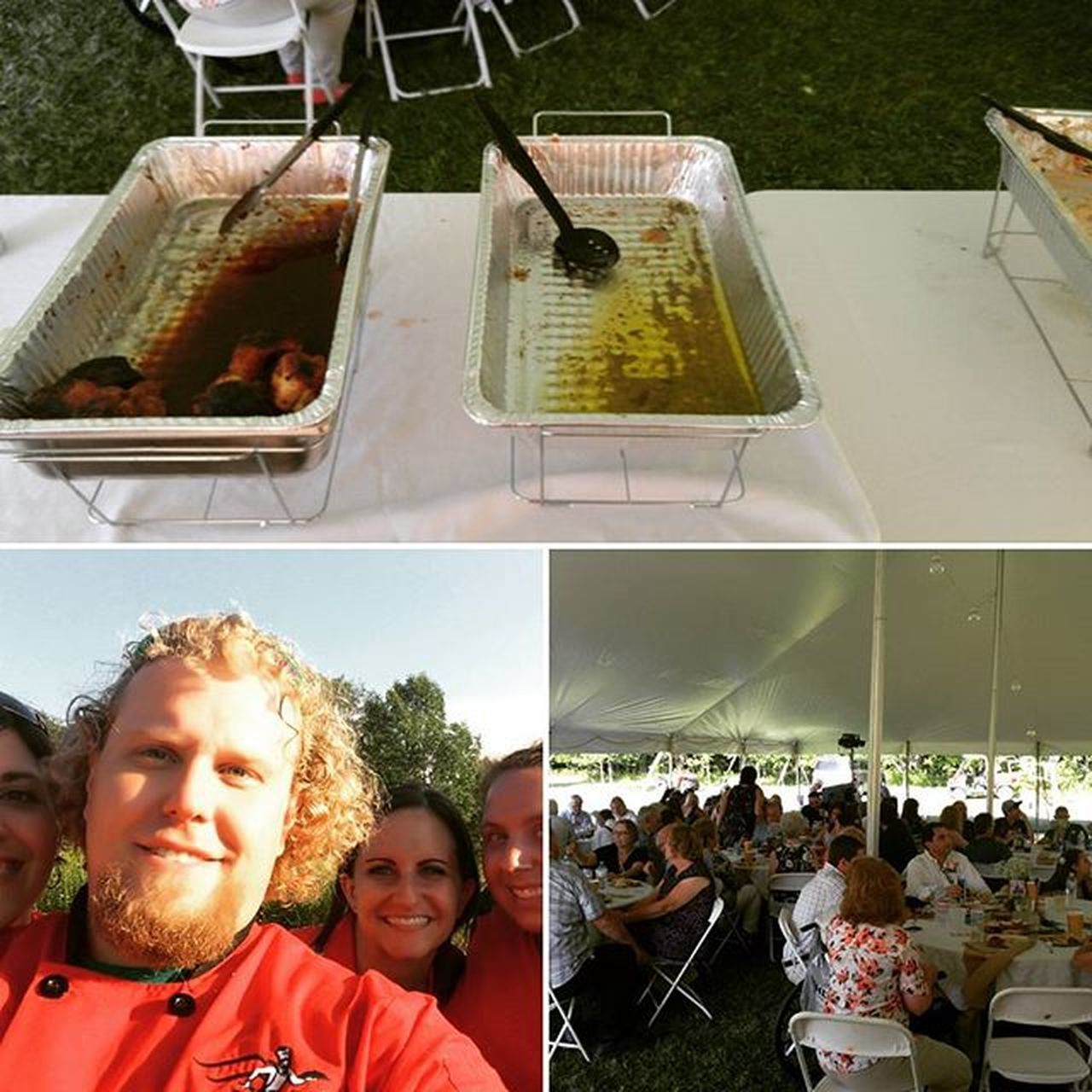 The Running Chef Catering with another successful outdoor wedding. Not a drop of food left after people came up for seconds. Ocr Ocrunited Hyletecompeteteam Eatnuttzo Teamcorepower Buffalo Buffalocaterer Buffalony Buffaloweddings Wedding Showers Anniversary Dinner Outsidewedding