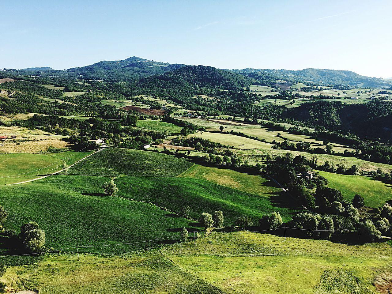 San Leo Emiliaromagna Italy Montefeltro Landscape Countryside Green Color