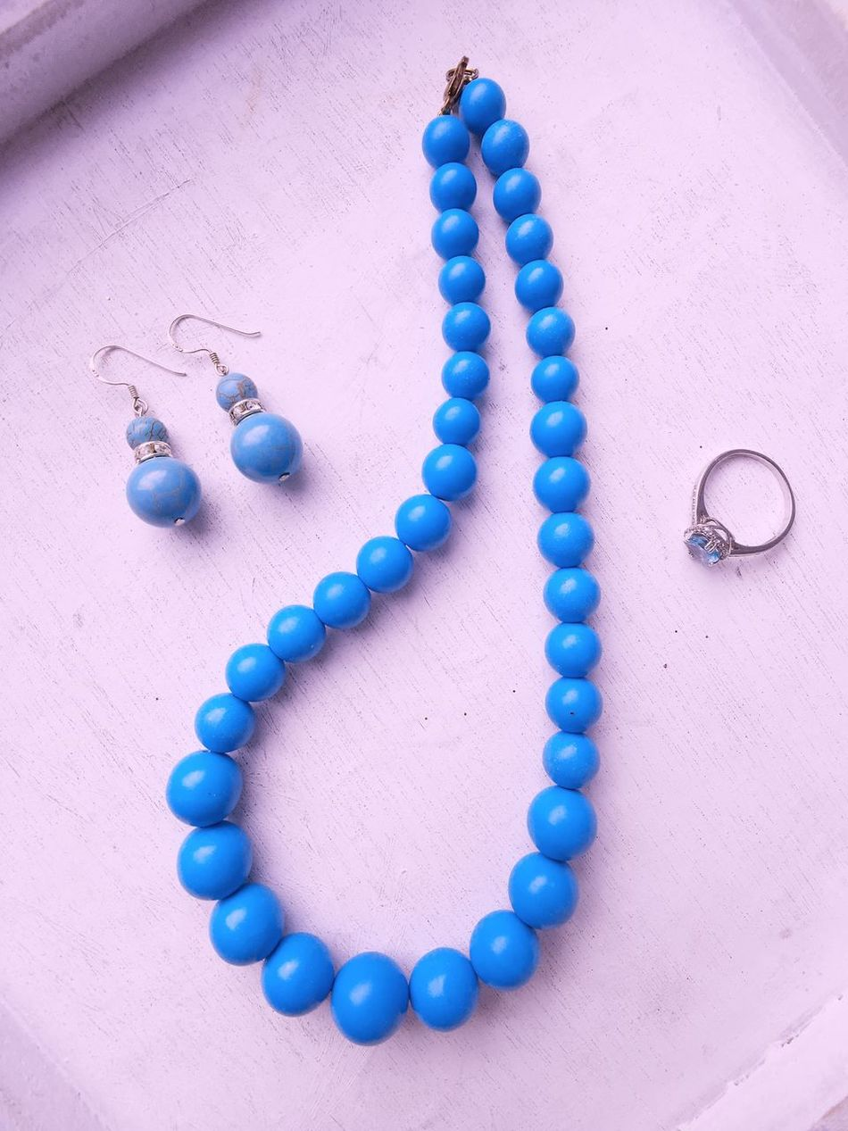 Jewelry combo Blue Jewelry Bead Necklace Close-up Arrangement No People High Angle View Jewellery Vintage Earring  Schmuck Turquoise Turquoise By Motorola Turquoise Colored Jewelry Collection Today's Hot Look