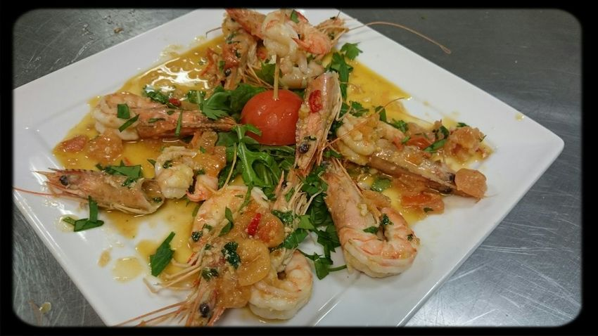 Creation de la Chef @Luigi dish con Scampi Foodspotting