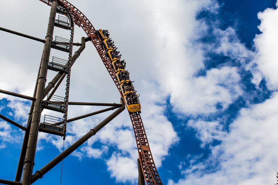 Amusement Park Amusement Park Ride Fun German Coaster Holiday Park Rollercoaster Rollercoaster Sky