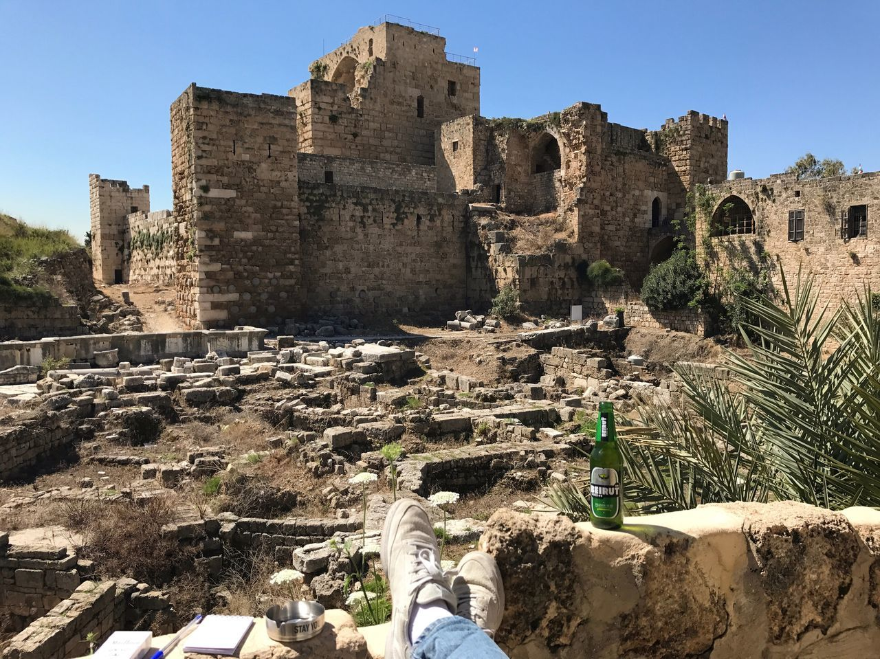 It's good to be a local Byblos Castle Crusaders Landscape View Archaeology Architecture History Ruins Lebanon Tourism Chilling Serenity Nofilter