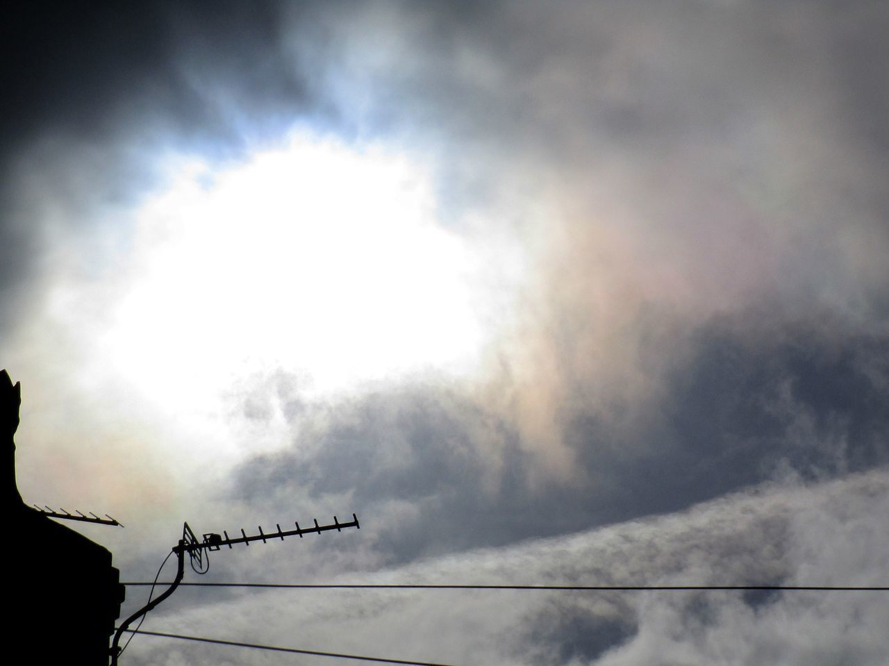 Aerosol Chemtrails Cloud - Sky GeoEngineering Low Angle View Sky Sky And Clouds Sun Television Aerial Weather Modification Whatthefuckaretheyspraying