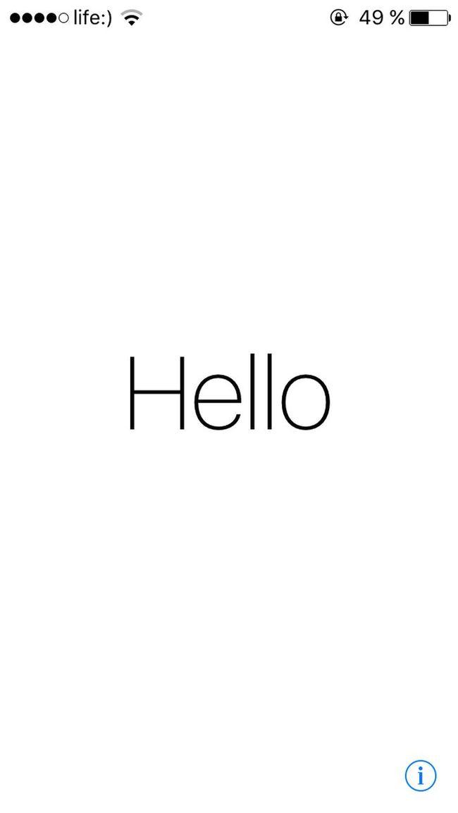Apple IOS9 Beta Hello 2015