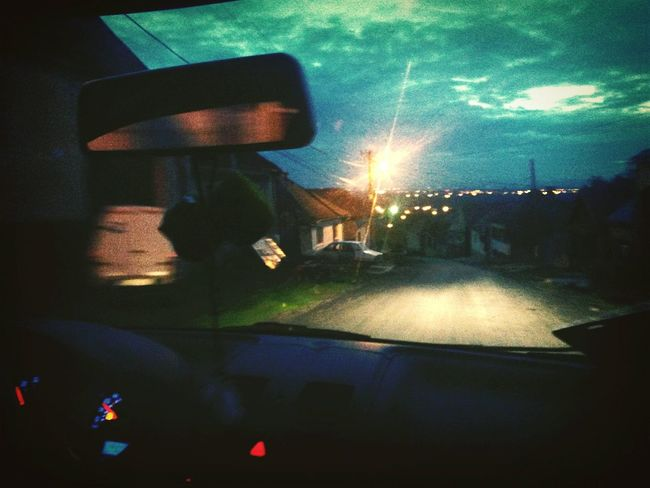 Car Trip Night View Music Lamp Post Houses And Homes Hills Driving Around Relaxing Horizon Volkswagen Tow People One Love