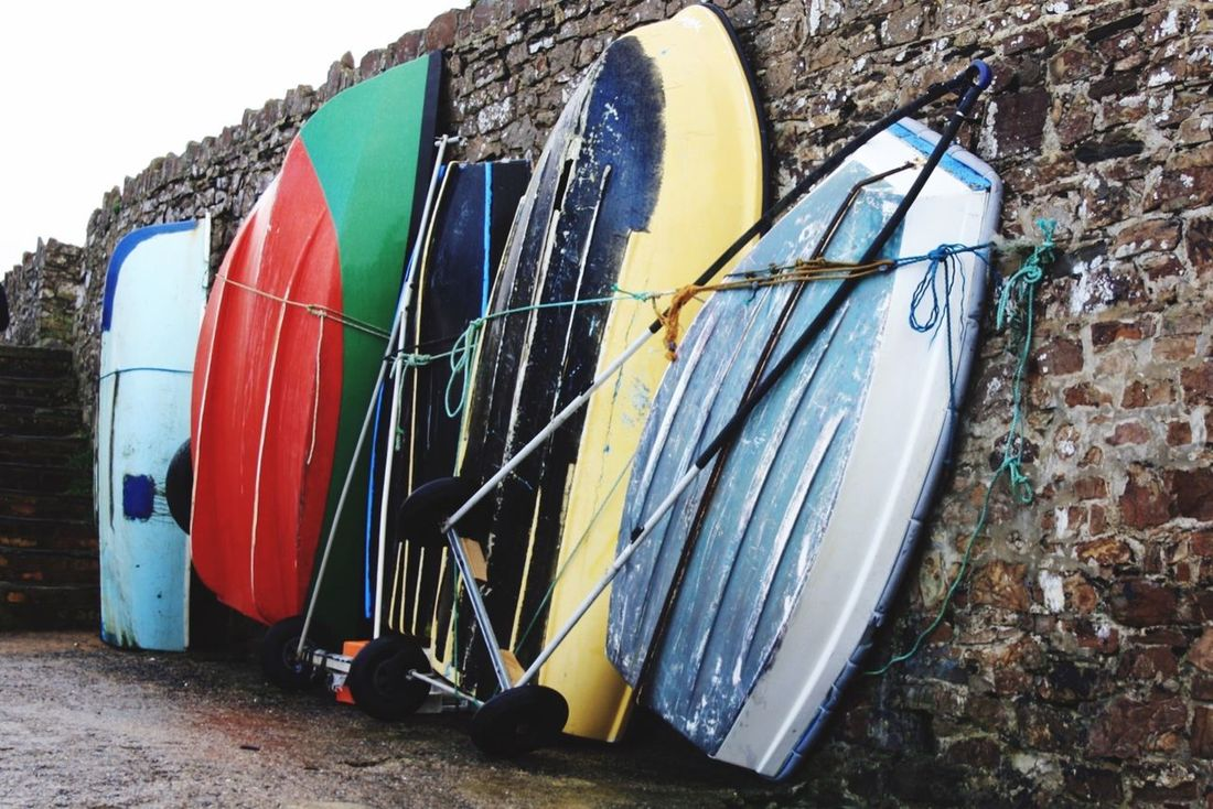 Bude Beach Outdoors No People Day Boats In A Row Colourful Waiting In Line