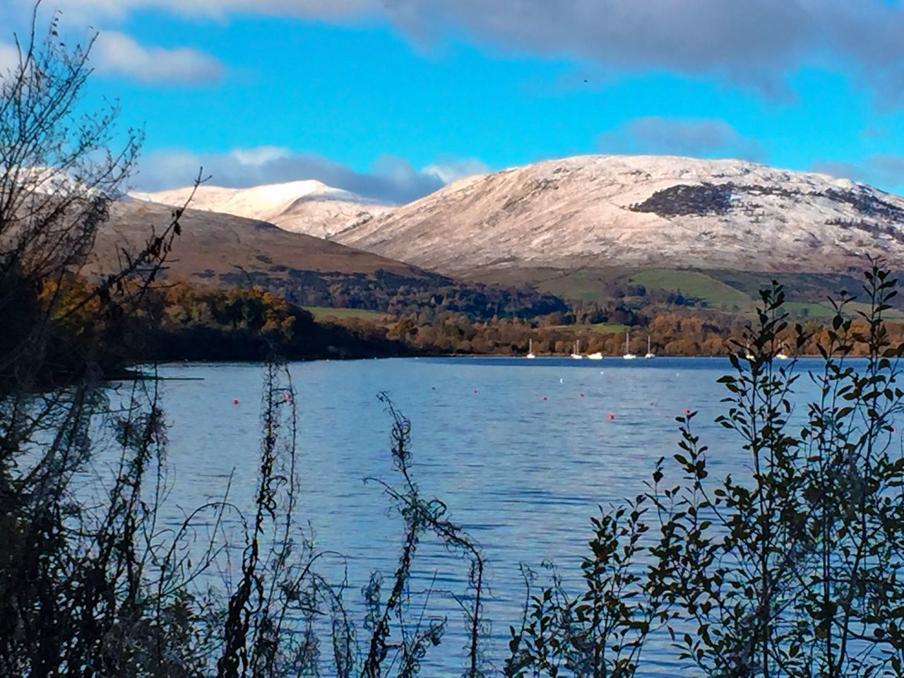 Mountain Range Snowcapped Mountain Landscape Water Beauty In Nature Horizon Over Land Idyllic Weather LochLomond Outdoors Tranquil Scene Scenics No People Rural Scene Growth Majestic Nature