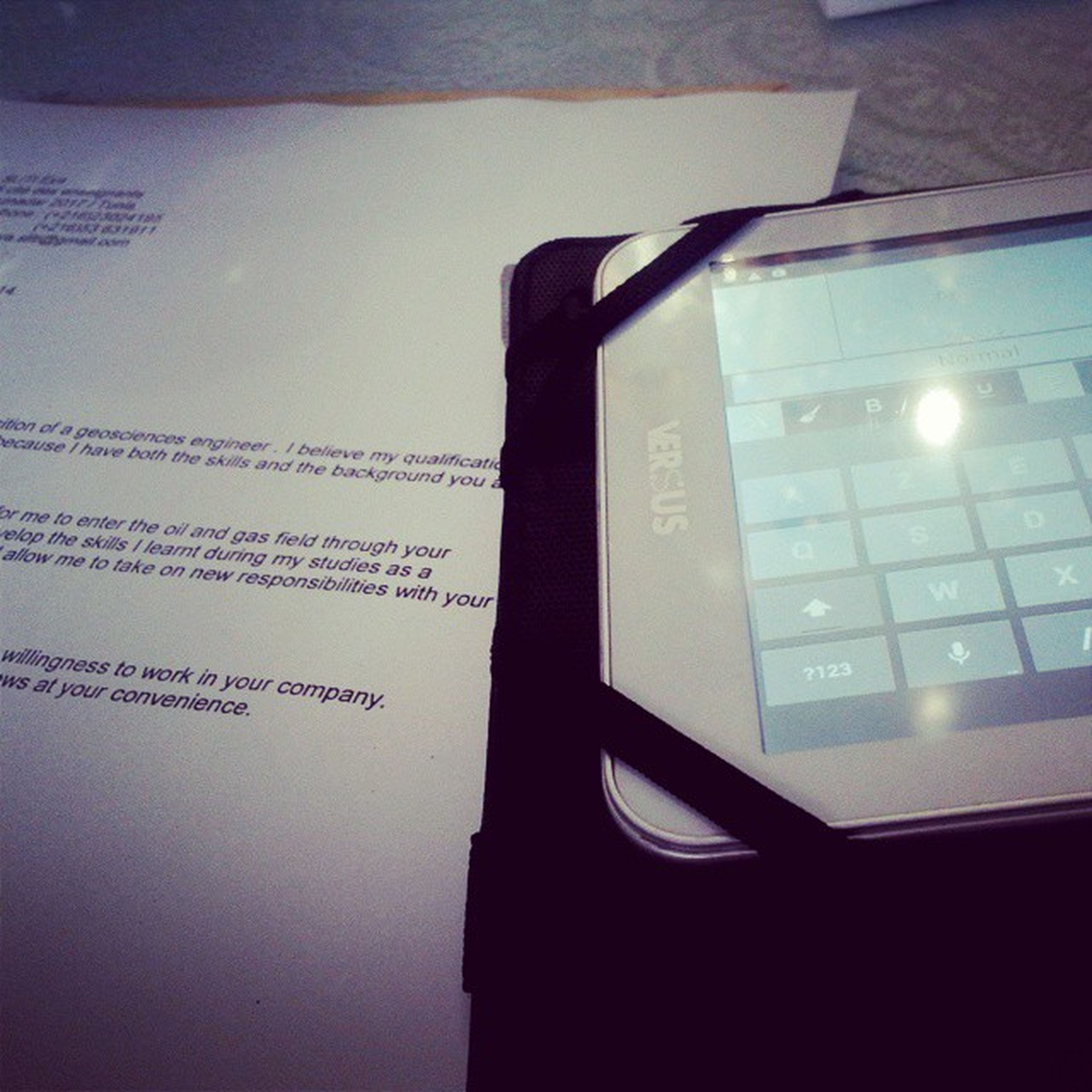when the PC is down, the tablet becomes a good solution. Looking_for_a_job Lettre_of_application Good Afternoon