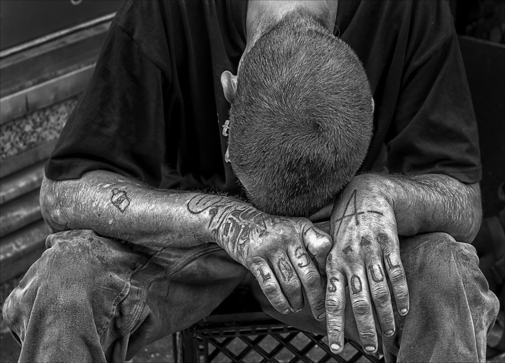 Homeless Addiction Depressed Homeless Tatooed