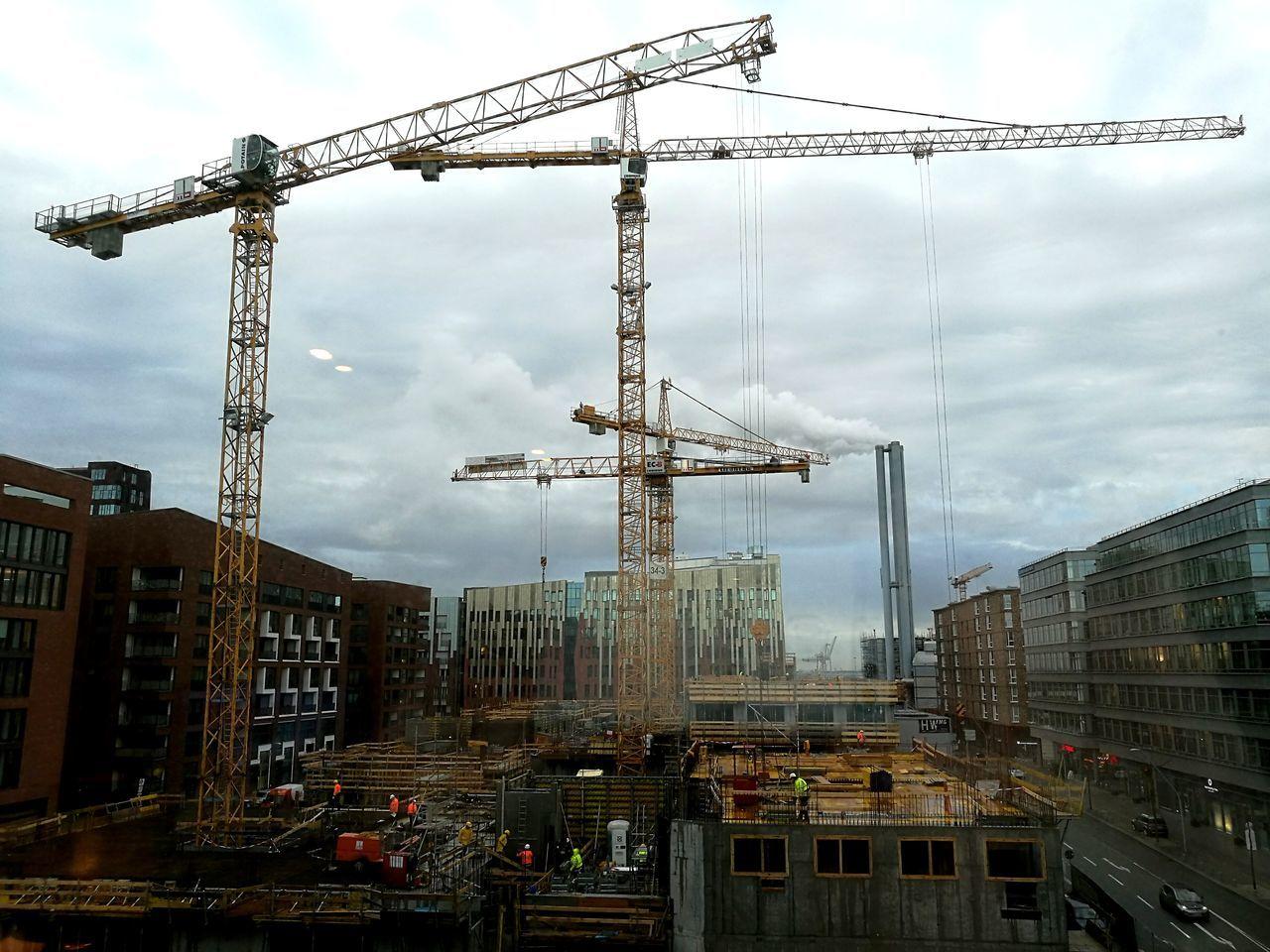 Sky City Cloud - Sky Building Exterior Outdoors Architecture Work In Progress Working Hamburg Construction Crane Construction Area