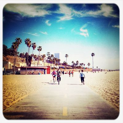 Having fun at Boardwalk - Santa Monica Beach by Jack Davis