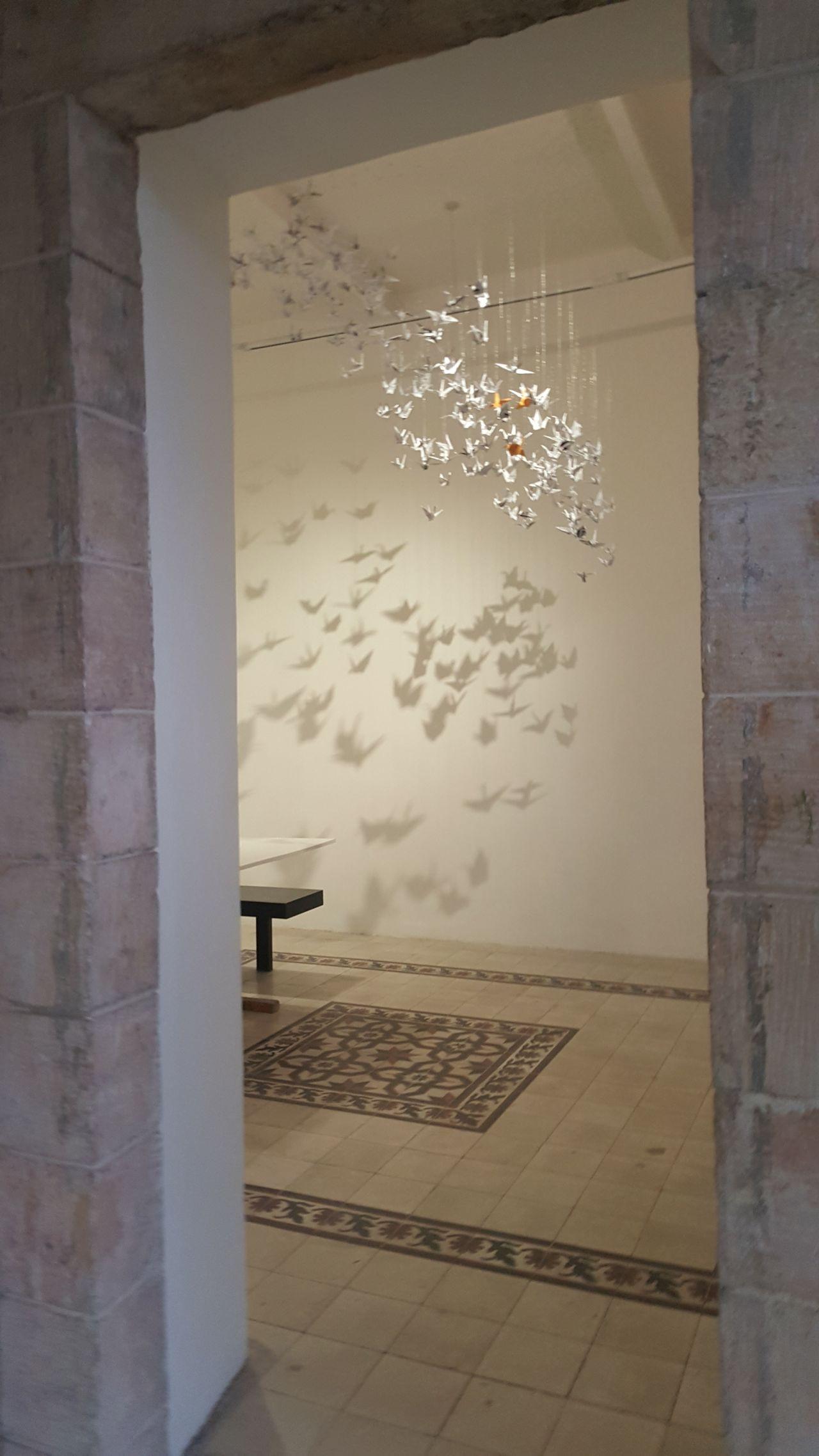 Adapted To The City Amman Jordan Indoors  Installation Art Paper Birds Shadow Art Shadows Shoman Foundation