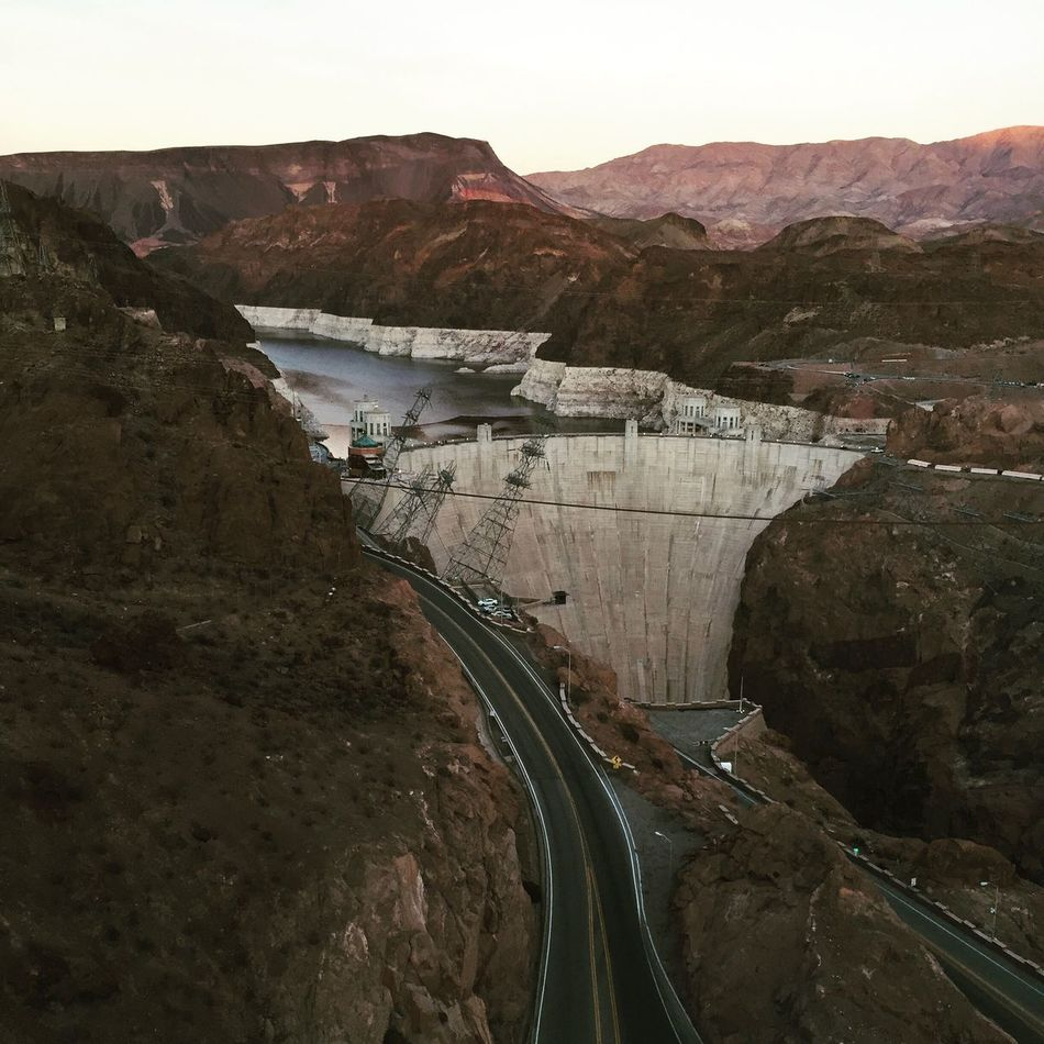 Dam Hydroelectric Power Bridge - Man Made Structure River Renewable Energy Water Architecture Nature Mountain Outdoors Travel Destinations Power Station Site Seeing Science Engineering