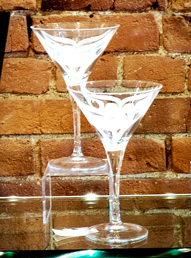 Brick Walls Bricks Close-up Day Etched Glass Focus On Foreground Glass Glassware No People Still Life