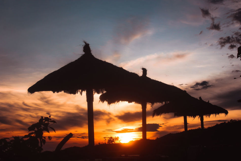 Sunset Silhouette Dramatic Sky Cloud - Sky Landscape Sky Nature Beauty In Nature Scenics Vacations Travel Outdoors EyeEm Indonesia