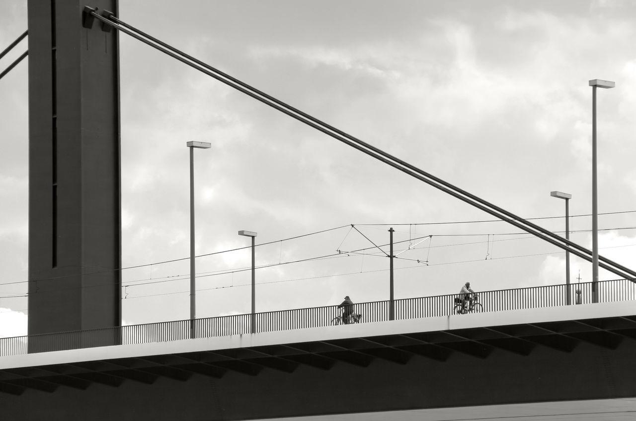 Düsseldorf, Germany, Bicycles Bikes Black & White Black And White Black&white Blackandwhite Blackandwhite Photography Bridge Brücke Deutschland Düsseldorf Fahrrad Fahrräder Germany NRW Oberkasseler Brücke SW