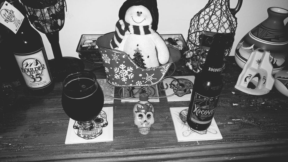 Beer Craftbeer Craft Beer Drink Alcohol Indoors  Craftbeerlife Celebration Christmas Holiday - Event Celebration Event Delicious Still Art No People Eyemphotography EyeEm Best Shots - Black + White