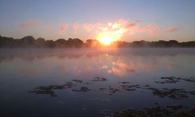 Medicine Lake Plymouth, Minnesota Lake Sunrise Over Water Sunrise Clouds Sky Reflections Morning Fog TLPhoto Nature's Diversities The Great Outdoors - 2016 EyeEm Awards Clouds On Fire Original Experiences 43 Golden Moments