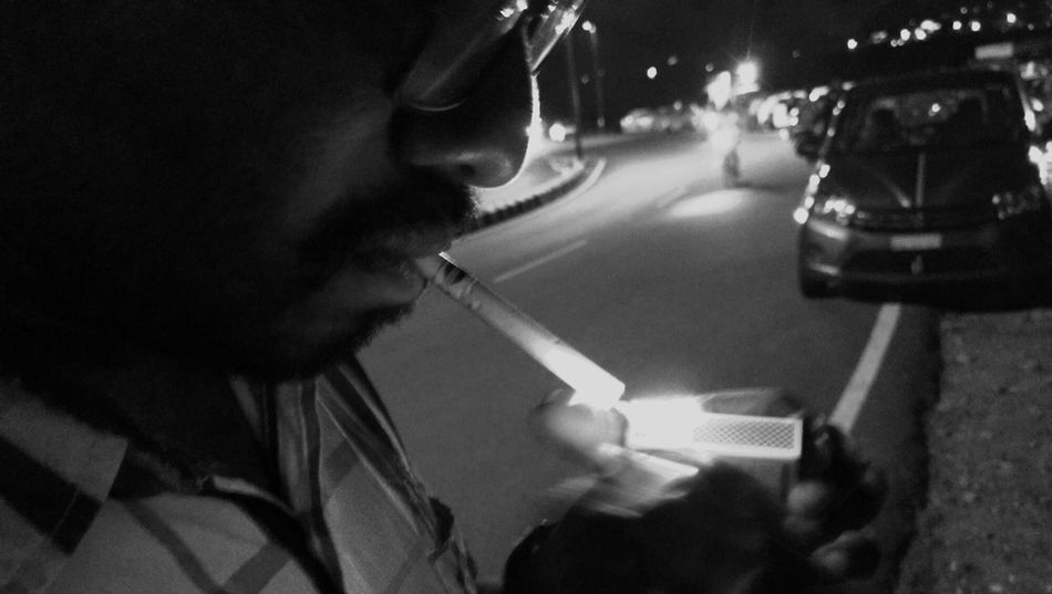 Smoking Ciggarette Vizag Vizag City City Road Vizag Beach Matchstick Lighting Light Night Nightphotography Night Lights Maximum Closeness light and reflection Snap a Stranger My Year My View Always Be Cozy